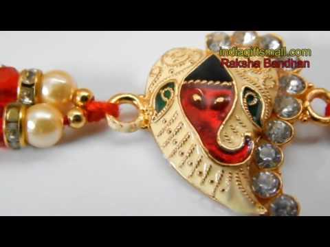Golden Metal Ganesha Rakhi