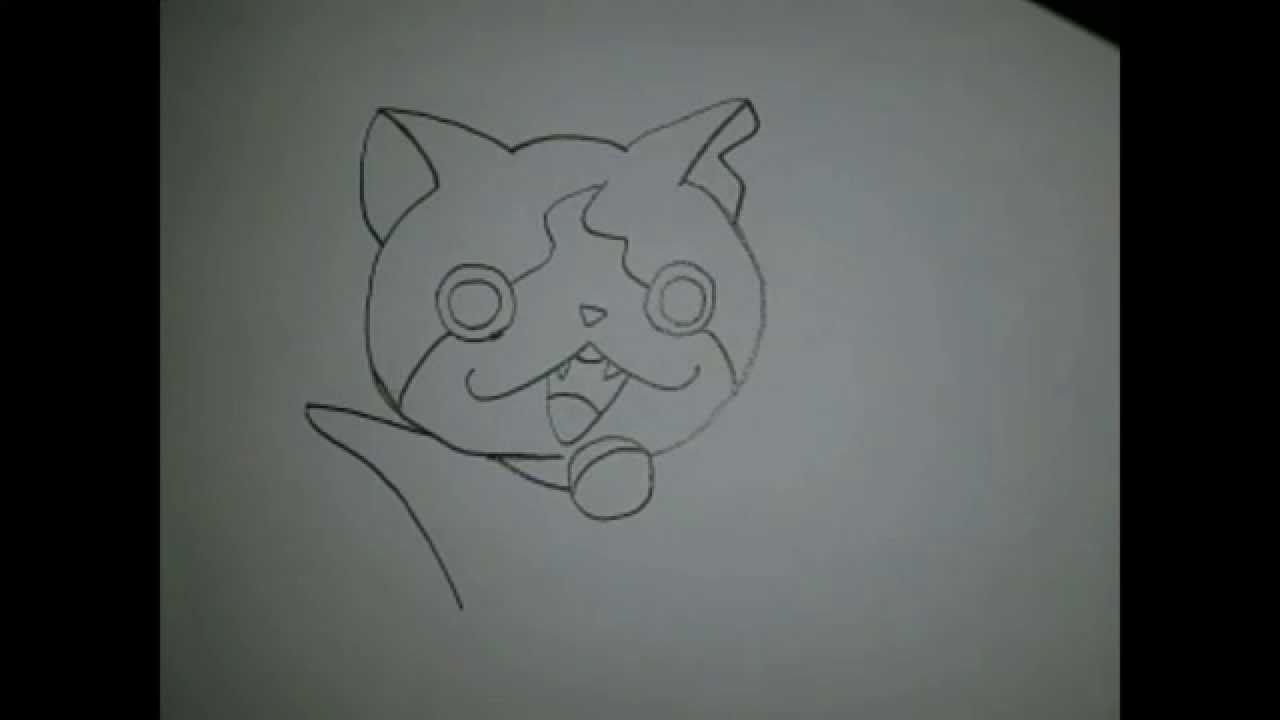 妖怪ウォッチジバニャンの絵を書いてみた Youtube