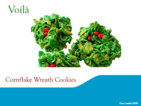 Christsmas Green Cornflake Wreath Cookie Recipe