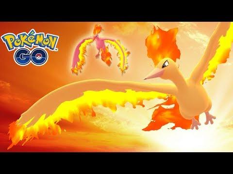 ¡MOLTRES SHINY con ATAQUE AÉREO en Pokémon GO! [Keibron] thumbnail