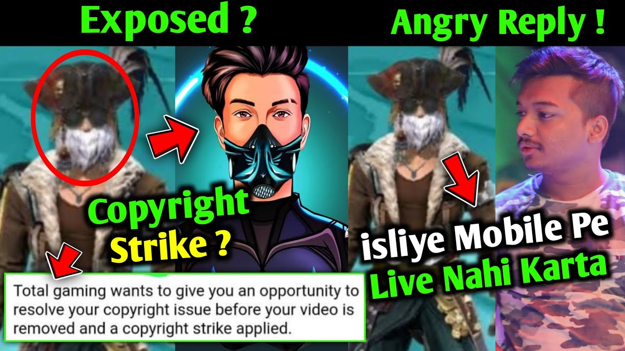 Total Gaming Gave Strike to Freefire Youtubers   SkyLord Reveal Name of Strike Giver   Total Gaming
