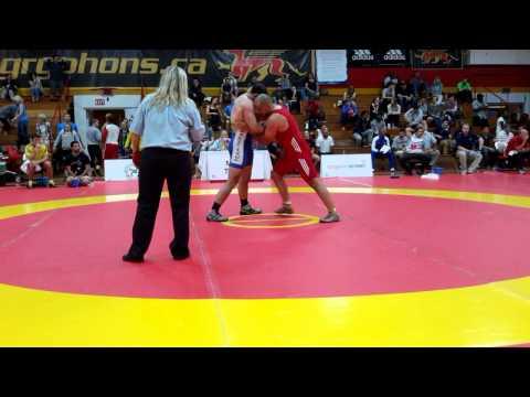 2015 Canada Cup: 97 kg Cornelus Zwaan (AUS) vs. Yiannis Narlidis (CAN)