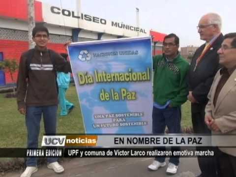 Comuna de Víctor Larco realiza emotiva marcha por la paz