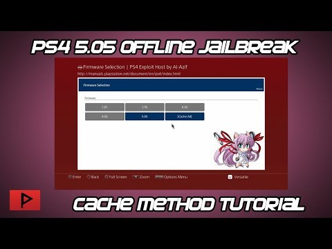 [How To] Run PS4 5.05 Jailbreak Offline Using Cache Method Tutorial