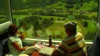 По Швейцарии на поездах(Швейцария славится своими ландшафтами, великолепными альпийскими долинами, которые под час можно увидеть..., 2014-12-13T10:15:27.000Z)