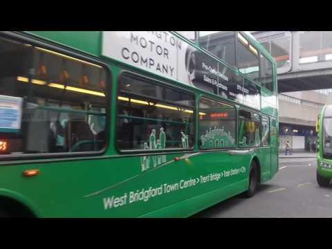 Buses: Nottingham City Transport: Green Line Service 6 (Video13)