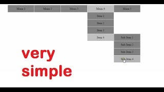 How to create Dropdown Menu/Navigation Bar in Html and CSS Tutorial - css3