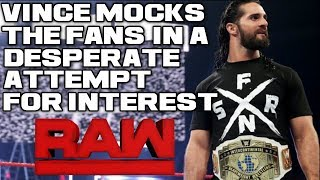 WWE Raw Dec. 10, 2018 Full Show Review & Results: WWE MOCKS THE FANS, DESPERATE ATTEMPTS BEFORE TLC