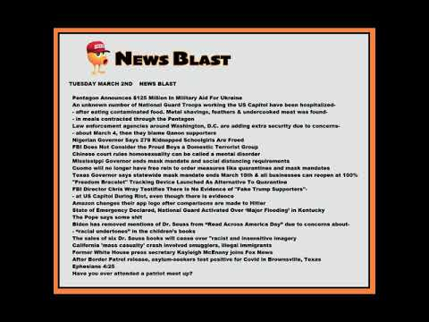 Tuesday, March 2, 2021 News Blast. #NBR #NewsBlastReadings #Enoch