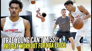 Trae Young Pro Day Pre-Draft Workout For 100+ NBA Execs!! He Can