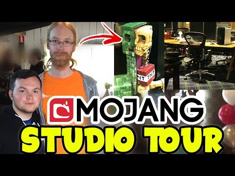 Mojang OFFICE TOUR with DEVELOPERS of Minecraft