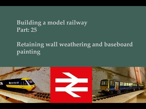 Part 25: weathering retaining walls – Building a model railway