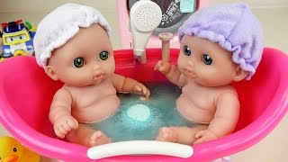 Twin Baby Doll Bath & Shower ball Berenguer toy play