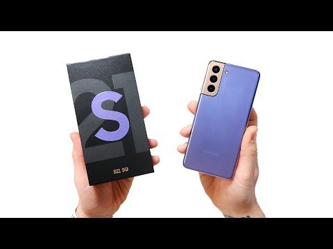 Распаковка Samsung Galaxy S21