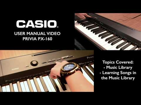 2.2 - Privia PX-160 Tutorial – Learn & Playback songs in Music Library