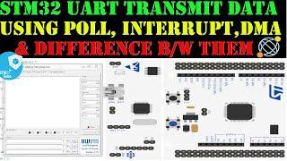 STM32 UART Tx data using POLL    INTERRUPT    DMA    CubeMX    HAL    Keil