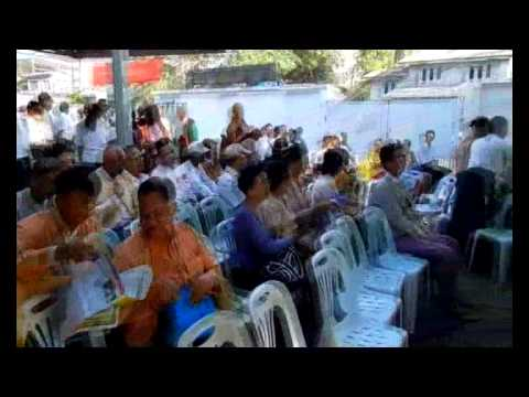 64th Independent Day celebrate at Veteran Politician Thakhin Thein Phae House