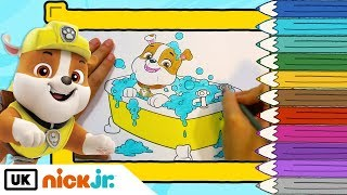 Paw Patrol | Colour In: Rubble in the Bath | Nick Jr. UK
