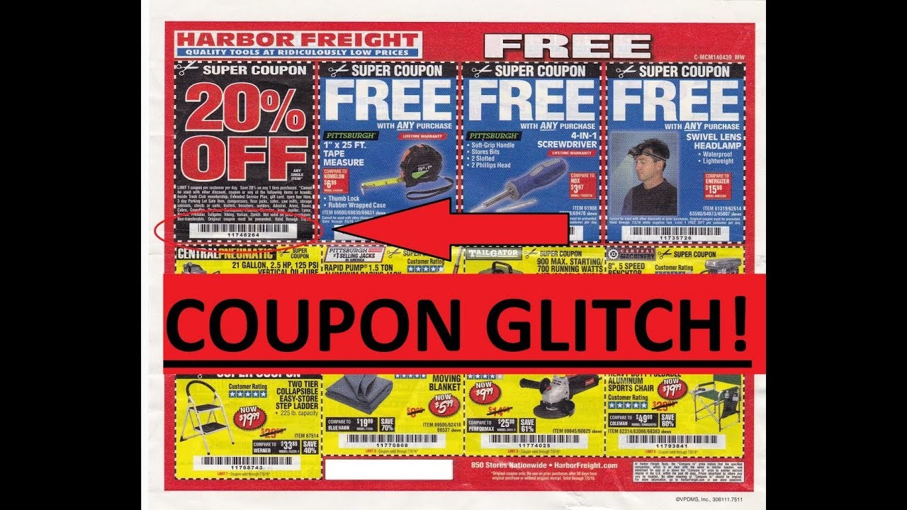 Harbor Freight Coupon Glitch Hurry Before They Fix It Youtube