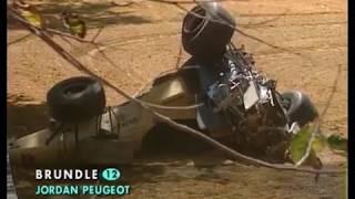 Brundle's huge crash - 1996 Australian GP