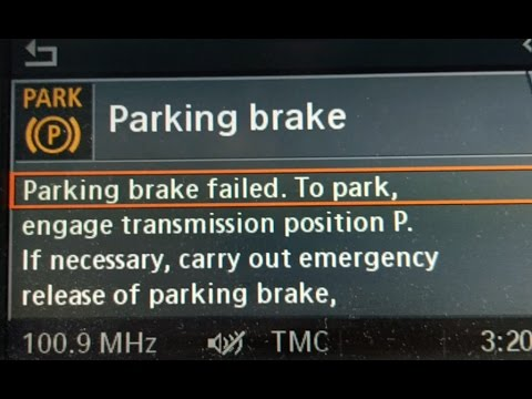 Bmw Parking Brake Failed How To Manually Release A Stuck