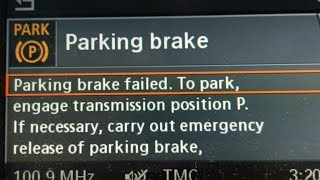 BMW Parking brake Failed- How to manually release a stuck parking brake
