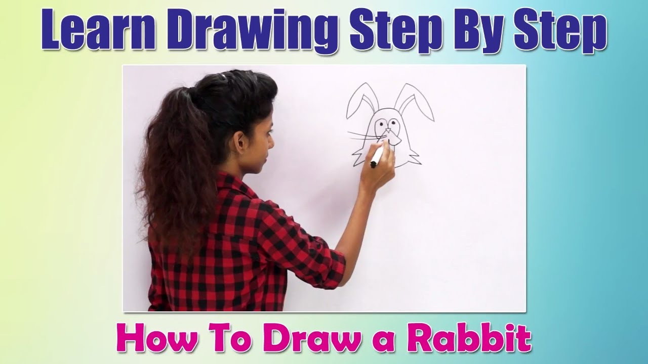 How To Draw Animals For Children How To Draw A Rabbit Learn Drawing Step By  Step