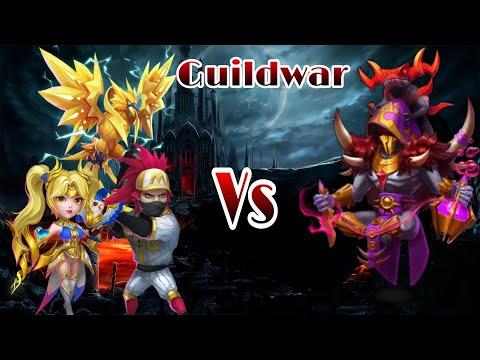 Castle Clash | Guildwar Vs Occultist | Ronin/Lazu/Dove | Horrible | Castle Clash