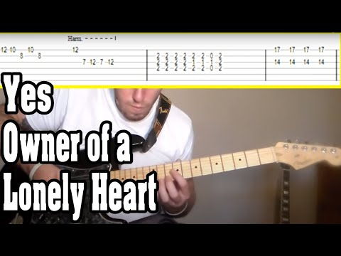 Yes - Owner of a Lonely Heart Guitar Tutorial w/TABS