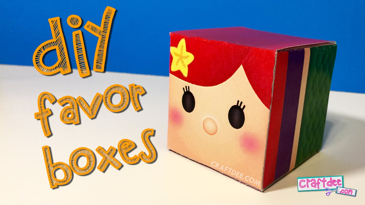 DIY Birthday Party Favor Boxes