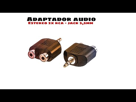 Video de Adaptador audio Estereo 2xRCA/H-Jack 3.5/M  Negro