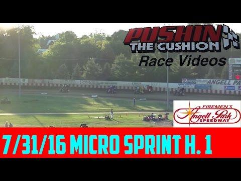 7/31/16 Angell Park Speedway: Micro Sprint Heat 1
