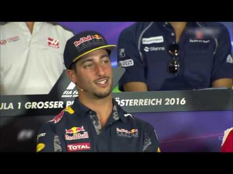 F1 2016 Austrian GP  Driver's Press Conference