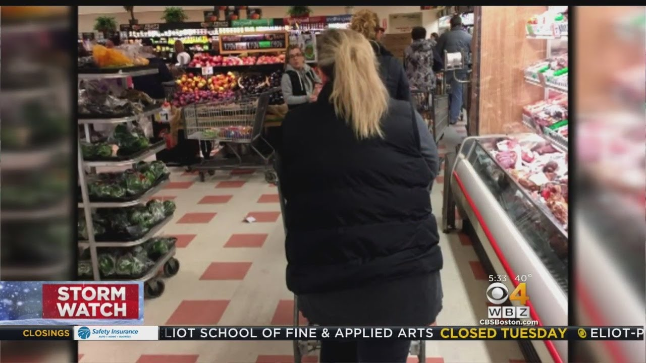 Stores Packed As People Stock Up For Third Nor'easter In 10 Days