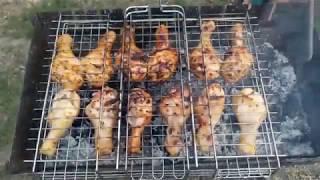 Маринованные куриные голени, экспрес маринад, шашлык с курицы, куриные голени на мангале