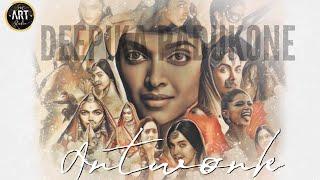 Deepika Padukone Digital Painting Collection 2018