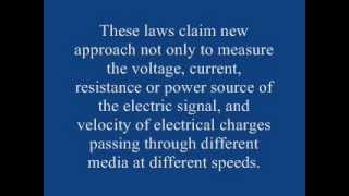 New laws of electrical phenomena, based on constant feedback the speed of light.