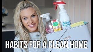 10 HABITS FOR A CLEAN HOME || TIPS TO KEEP YOUR HOUSE CLEAN