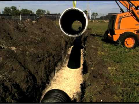 HDPE Pipe Installation Video - HDPE Pipe Trench Preparation