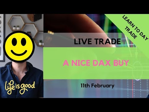 Live Dax Trade 11th February – A Nice Buy