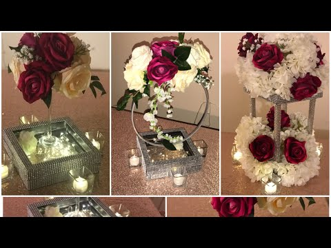 DIY - easy shadow box centerpiece Diy- dollar tree centerpiece DIY- romantic centerpieces