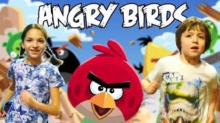 Приколы в парке Angry Birds. Адриан и Света. Энгри Бёрдз по-русски!