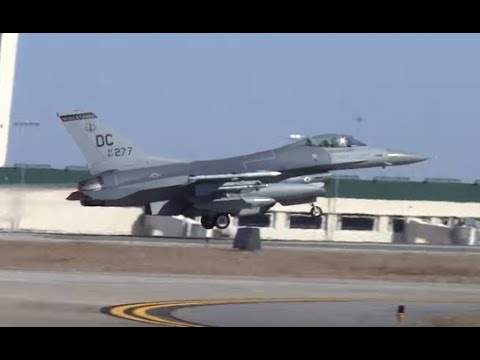 F-16s Full Afterburner Take Off - Savannah Hilton International Airport - Savannah Sentry
