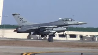 F-16s Full Afterburner Take Off - Savannah Hilton International Airport - Savannah Sentry