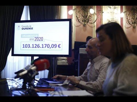 Presentación de los Presupuestos 2020 por parte del Concello de Ourense