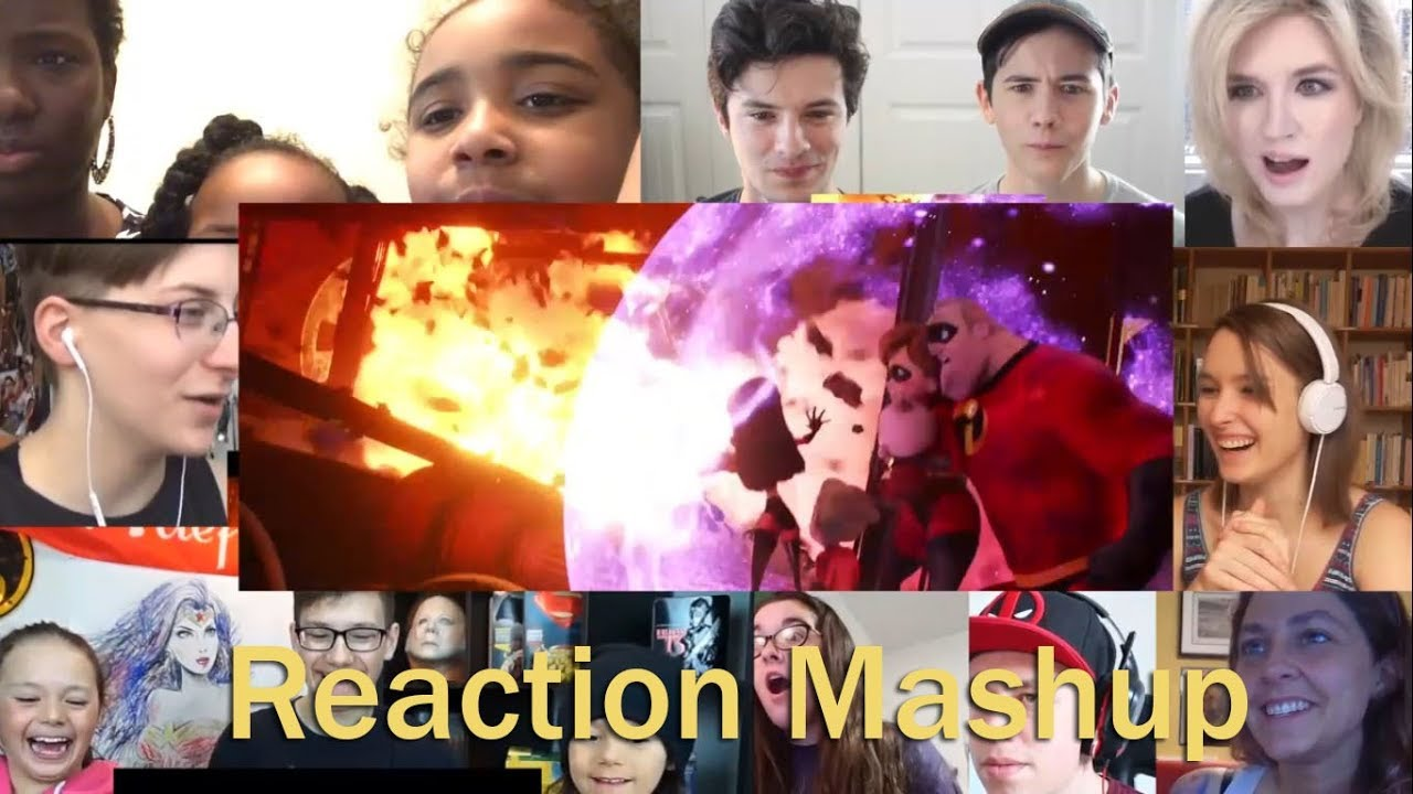 The Incredibles 2 Official  Trailer REACTION MASHUP