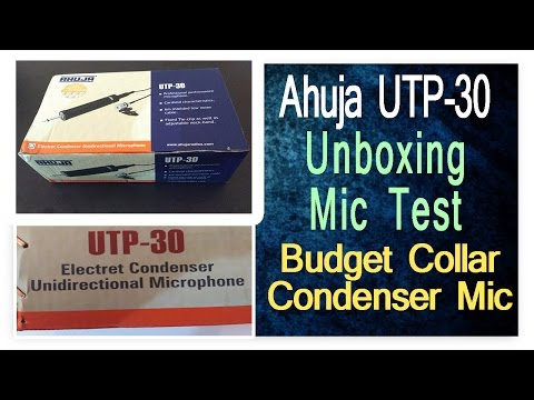 Ahuja UTP-30 Collar Condenser Microphone Unboxing And Sound Test With Vocals And Guitar