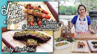 [Judy Ann's Kitchen 9] Ep 1 : Baby Back Ribs, Chicken & Bacon Skewers | Noche Buena Ideas