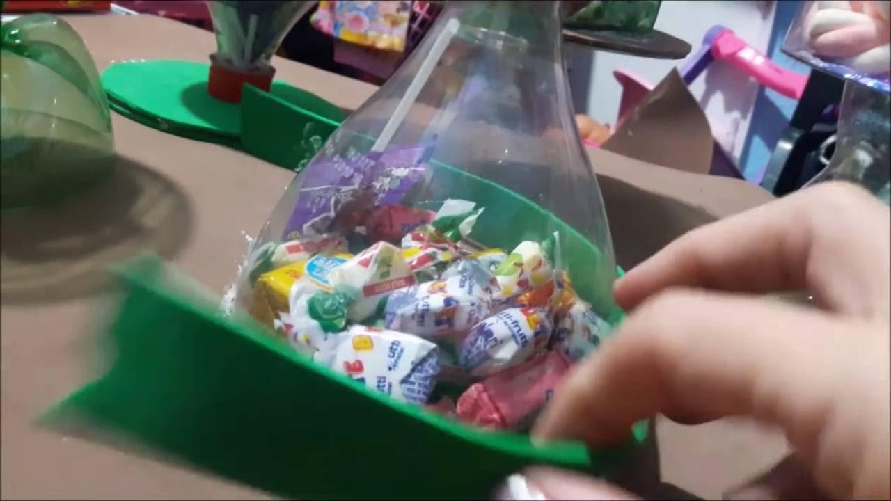 D I Y BALEIRO COM GARRAFA PET, (decoraç u00e3o chá de beb u00ea, festa infantil, reciclagem ) YouTube -> Decoração De Festa Com Garrafa Pet