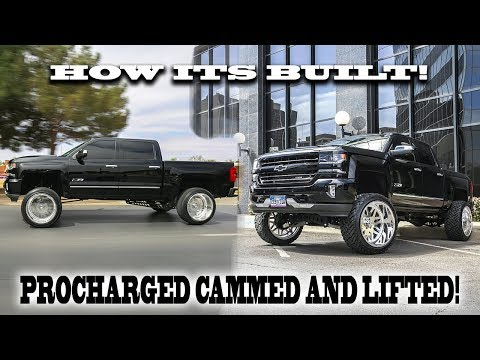 FAST TRUCK!!! HOW A 2016 CHEVY SILVERADO MAGNACHARGED WITH A 9 INCH LIFT ON 24X14S IS BUILT!!